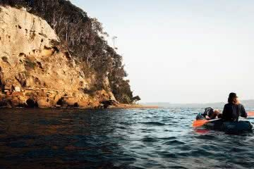 Escape The Rat Race With A Cheeky Weekend In Lake Macquarie, photo by Damon Tually, kayaking, Pulbah Island, water