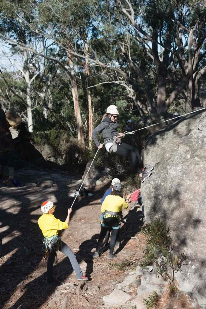 Why Do We Need Women Only Adventure Events?, photo by (), Salomon Abseil, women, ropes, belay, rock, boulder