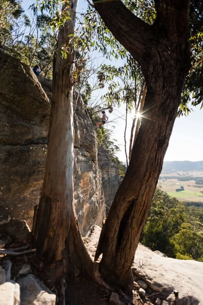 Why Do We Need Women Only Adventure Events?, photo by (), Salomon Abseil, trees, rock, woman, mountain