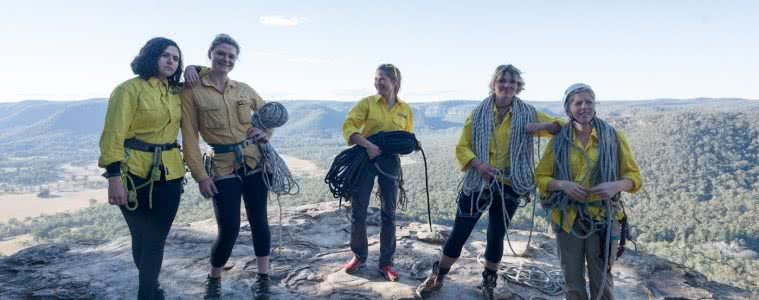 Why Do We Need Women Only Adventure Events?, photo by (), women, ropes, rock, view, mountains, Salomon Abseil