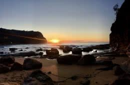 Escape From The City // Bouddi National Park (NSW), Renee Summers, beach, sunrise, water, sand, rocks