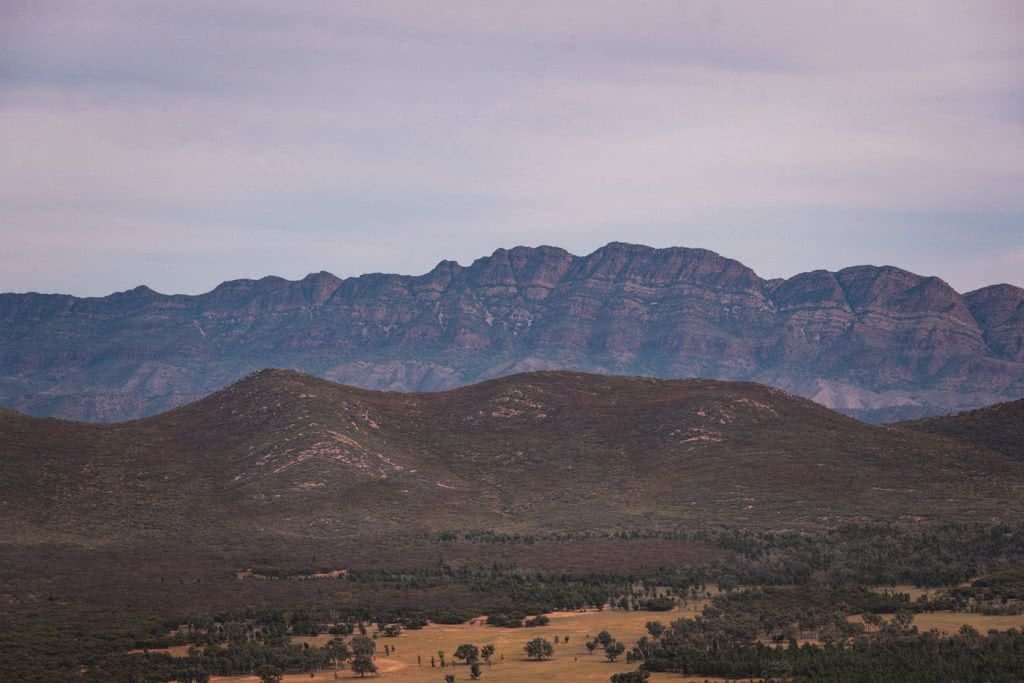 How To Drive From Adelaide To Uluru The Explorer's Way, Adrian Mascenon, Flinders Ranges near Wilpena Pound, cliffs, mountains, desert, scrubland