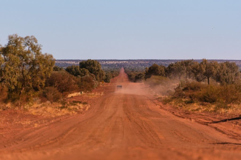How To Drive From Adelaide To Uluru The Explorer's Way, Adrian Mascenon, dirt road, dust, desert