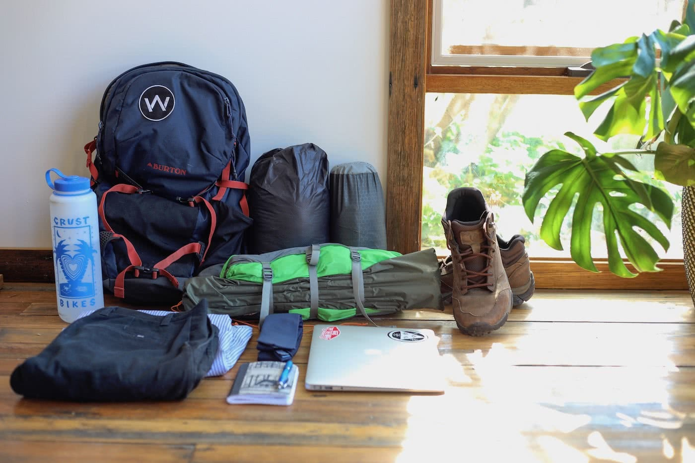 5 Reasons Why Walking to Work Can Make You a Better Hiker by Mattie Gould Walk to work pack, flat lay