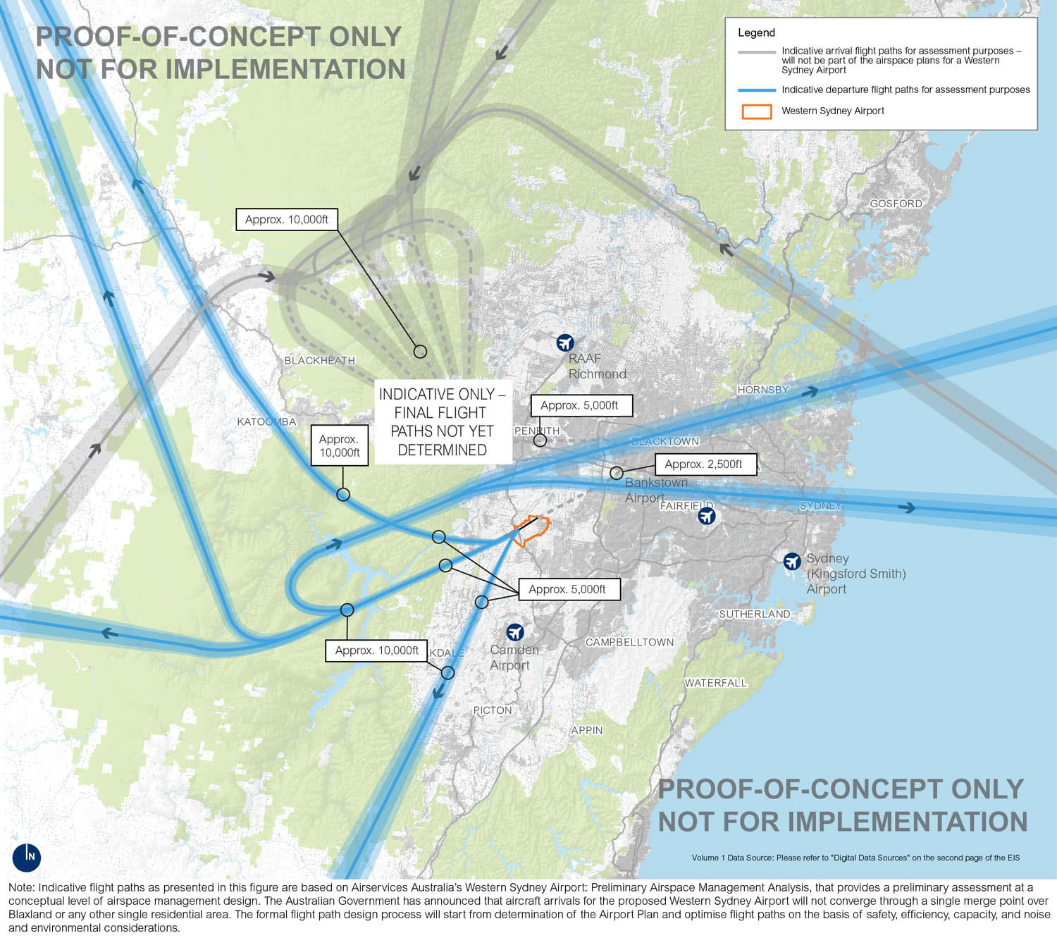 indicative flight paths, badgerys creek