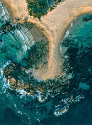 8 Great Reasons To Take Your Mates To Eurobodalla, photo by Fin Matson, Mystery Bay, headland, ocean, drone shot, blue water