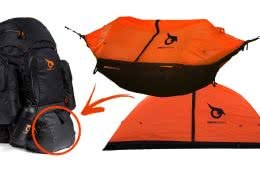 Owly Packs Are Modular Backpacks To Fit Every Function, image from Kickstarter, pack, tent