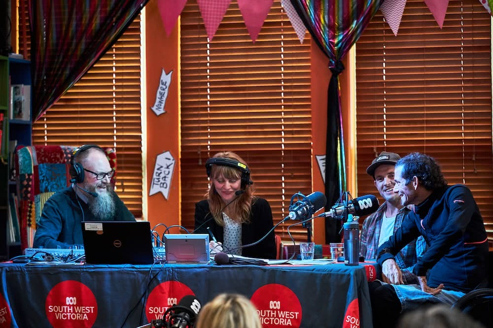 What Makes The Port Fairy Adventure Film Festival So Special?, photo by Pat Corden, radio interview, henry, jezza