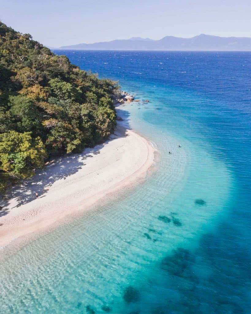 Find Your Paradise On Fitzroy Island (QLD), Scott Pass, Nudey Beach, sand, sea, water, blue
