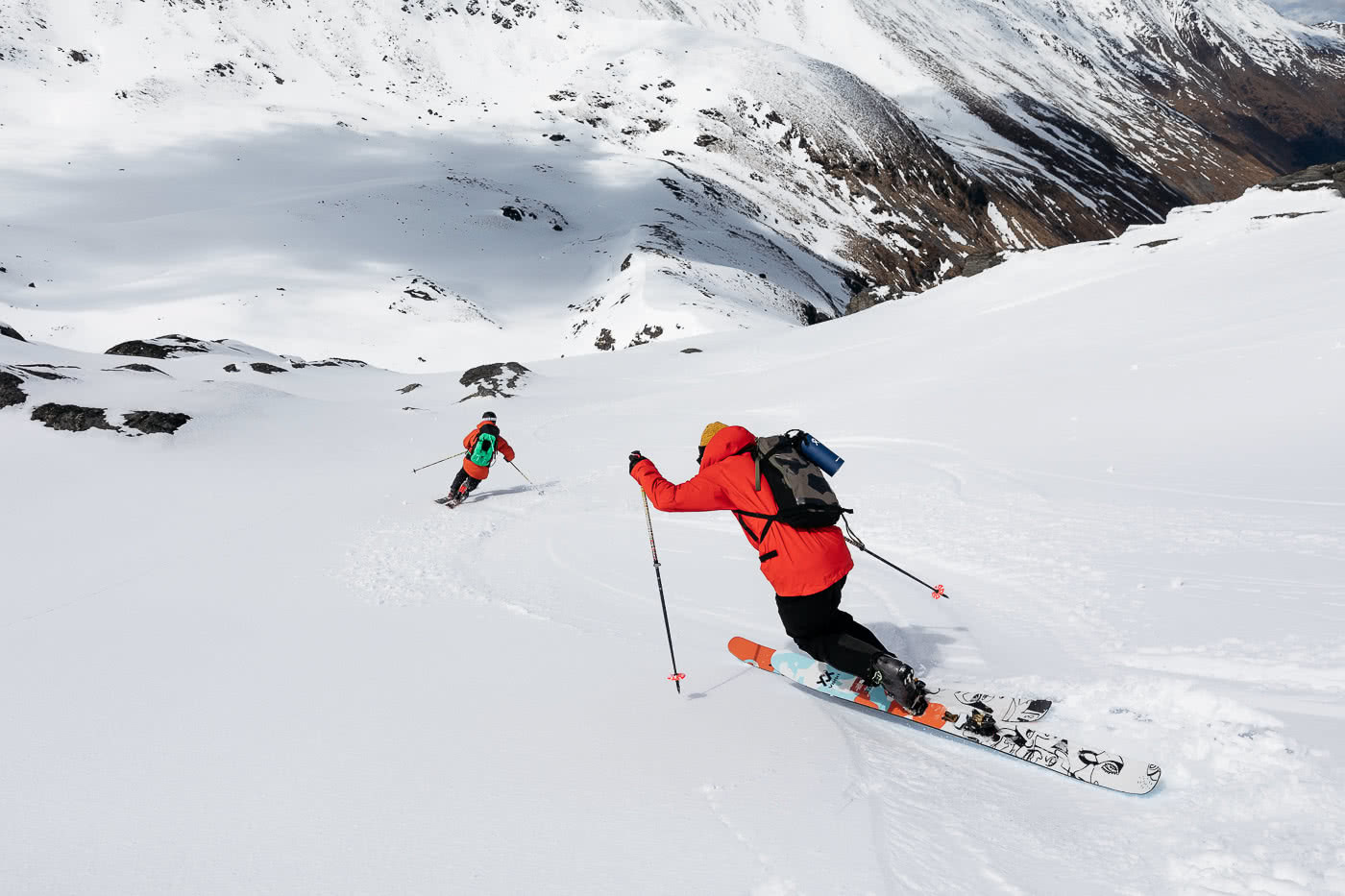 Just How Revolutionary Is FUTURELIGHT Waterproof Breathable Gear? We Tested It Out In NZ, photo by Mark Clinton, the Remarkables, The North Face, New Zealand, skiing, sam smoothy