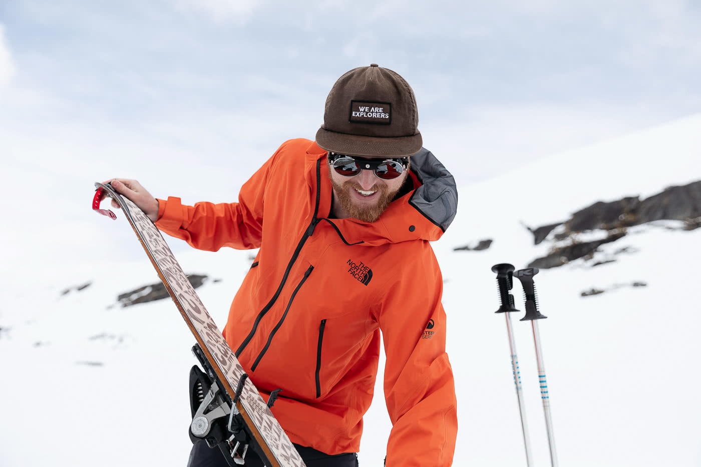 Just How Revolutionary Is FUTURELIGHT Waterproof Breathable Gear? We Tested It Out In NZ, photo by Mark Clinton, the Remarkables, The North Face, New Zealand, skiing, skinning up
