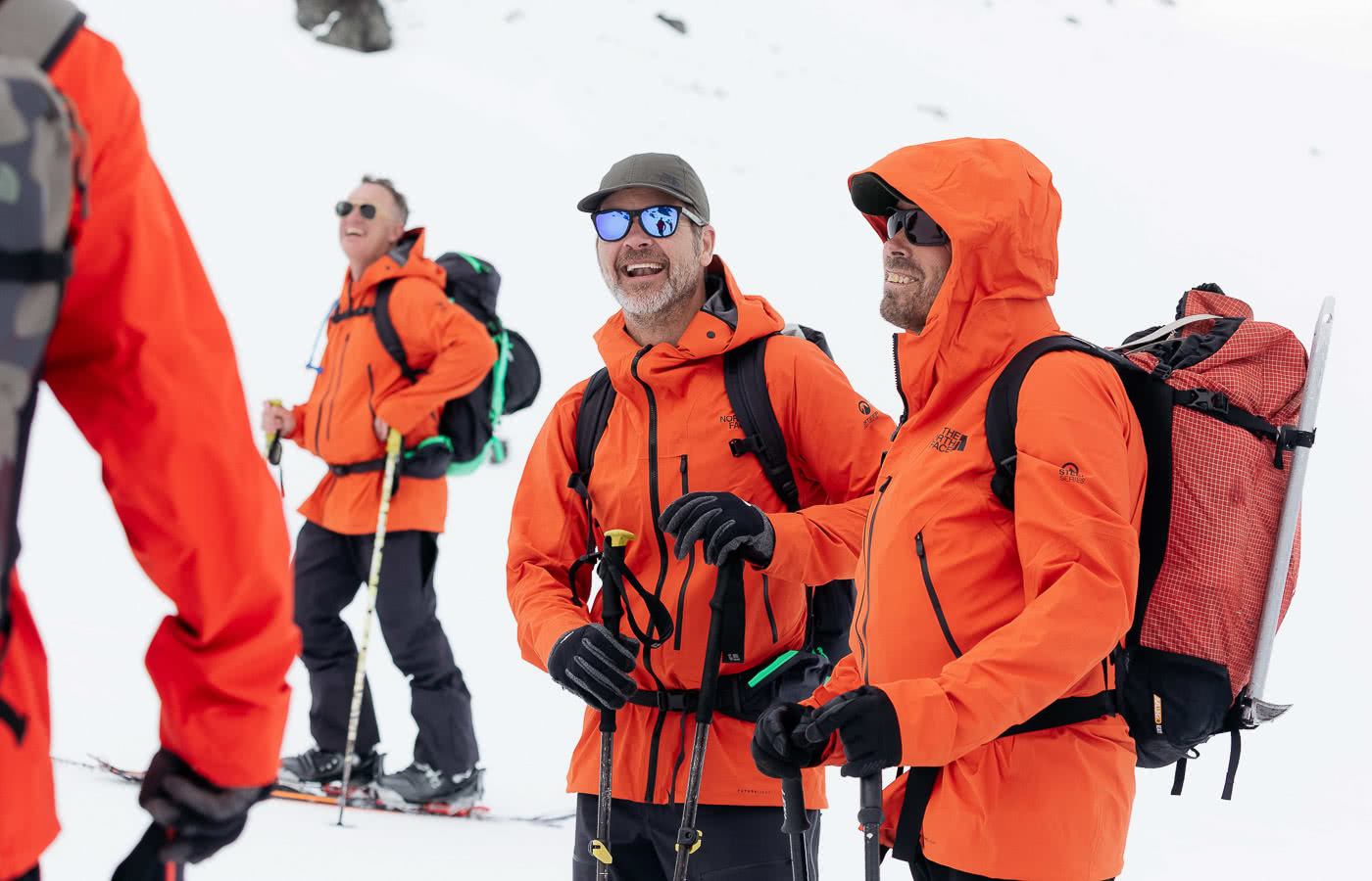 Just How Revolutionary Is FUTURELIGHT Waterproof Breathable Gear? We Tested It Out In NZ, photo by Mark Clinton, the Remarkables, The North Face, New Zealand, skiing, skinning up, Paul Karis