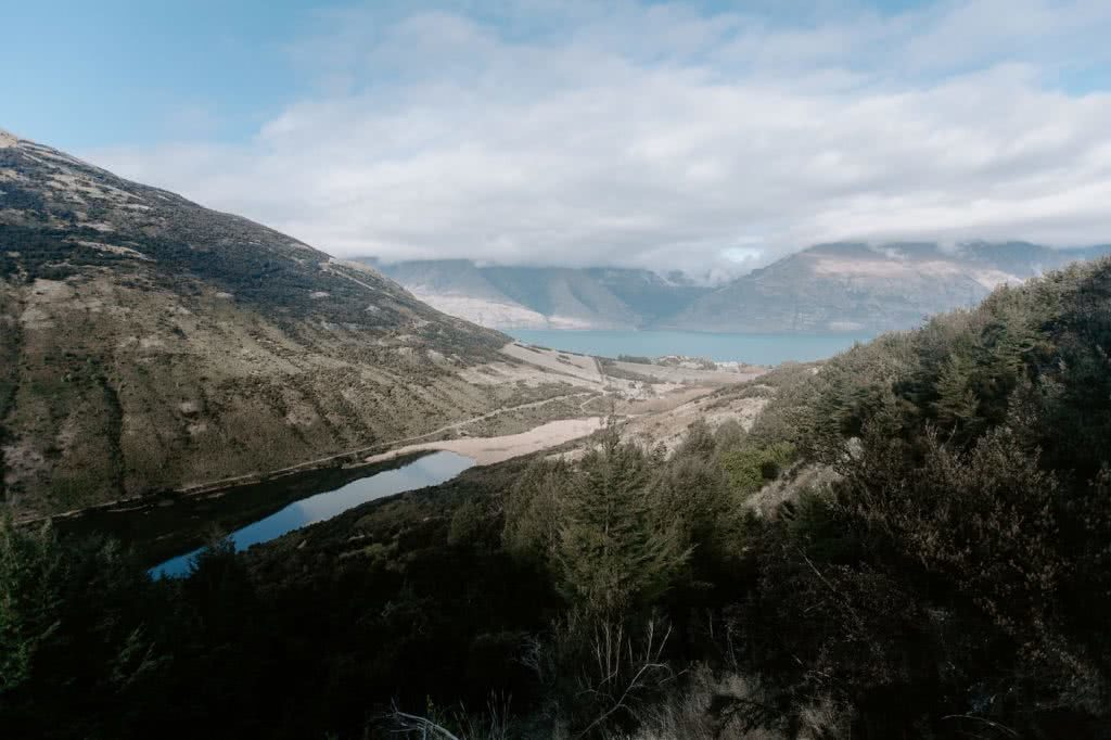 Take A Stroll Along The Mount Crichton Loop Track // Queenstown (NZ), Cedric Tang, valley, river, lake, mountains, overhead view