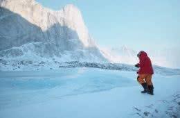'In The Shadow Of Thor' Will Transport You Across The World, screen shot from film, Matt Watson, Jsaw Hancox, Baffin Island, mountains, snow, ice