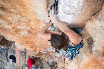 Check Out These Women Only Rock Climbing Events Happening This Month, photo by Mitch Scanlan-Bloor, crack climbing, rock, women climbing