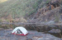 Sun-up to Sundown National Park – The Mt Donaldson Circuit (QLD), Saphira Schroers, net, river, rock platform, cliff