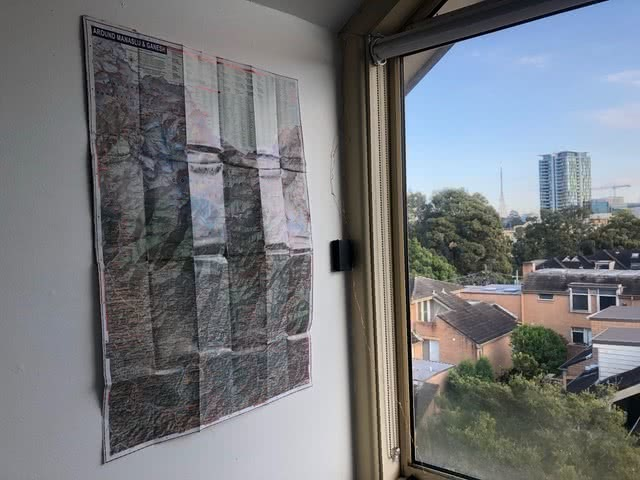 How To Recycle Old Maps, Damon Tually, map, wall, window