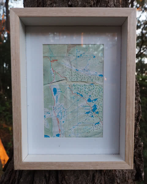 How To Recycle Old Maps, Damon Tually, map, frame