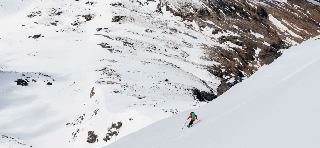 These Backcountry Lines Are Less Than An Hour From Queenstown, photo by Mark Clinton. the north face, FUTURELIGHT, backcountry, skiing, south island, queenstown,