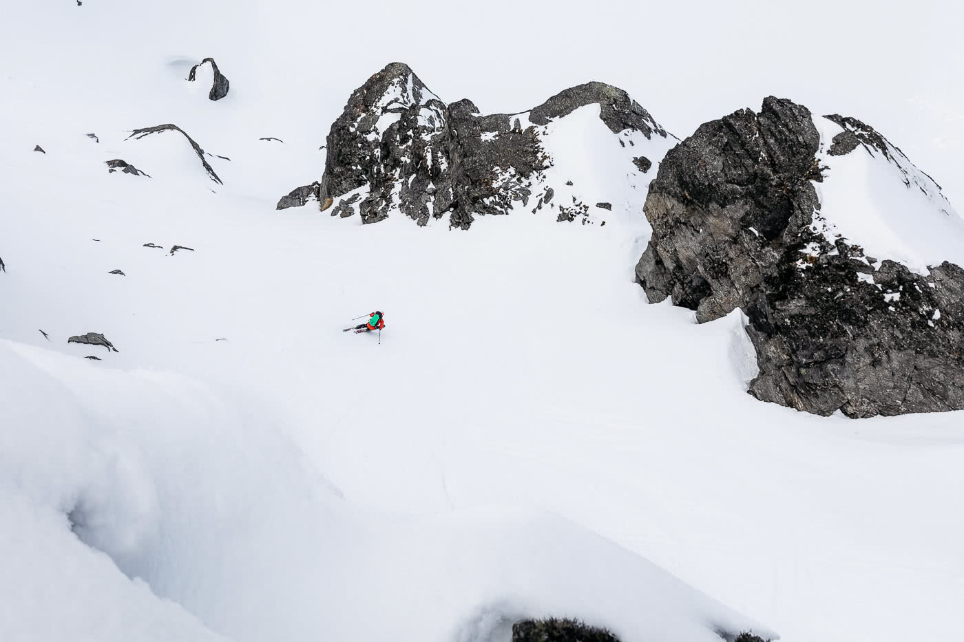 These Backcountry Lines Are Less Than An Hour From Queenstown, photo by Mark Clinton. the north face, FUTURELIGHT, backcountry, skiing, south island, queenstown, james mccormack