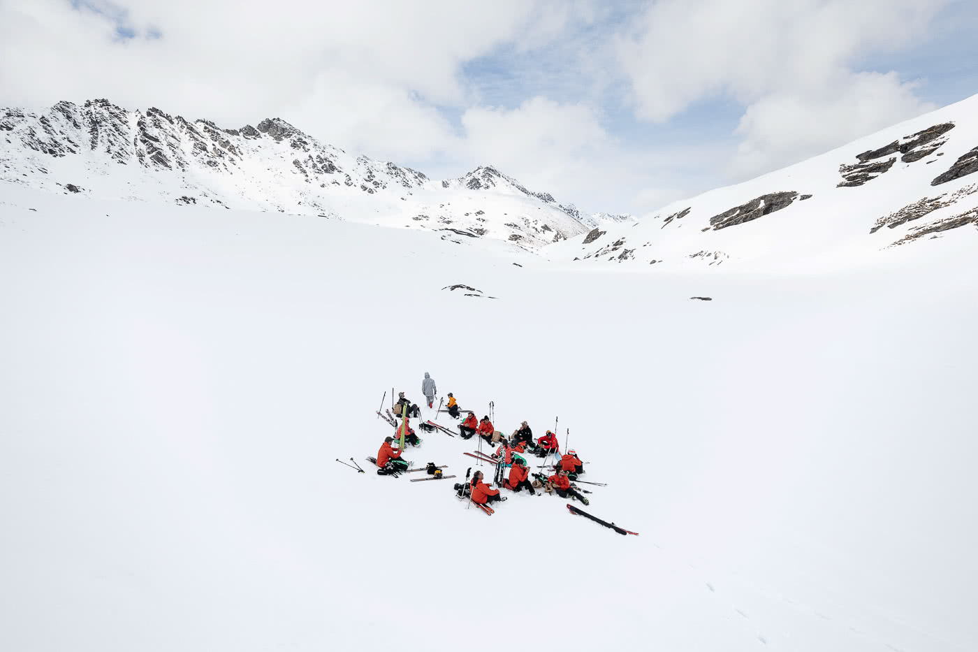 These Backcountry Lines Are Less Than An Hour From Queenstown, photo by Mark Clinton. the north face, FUTURELIGHT, backcountry, skiing, south island, queenstown, lunchtime