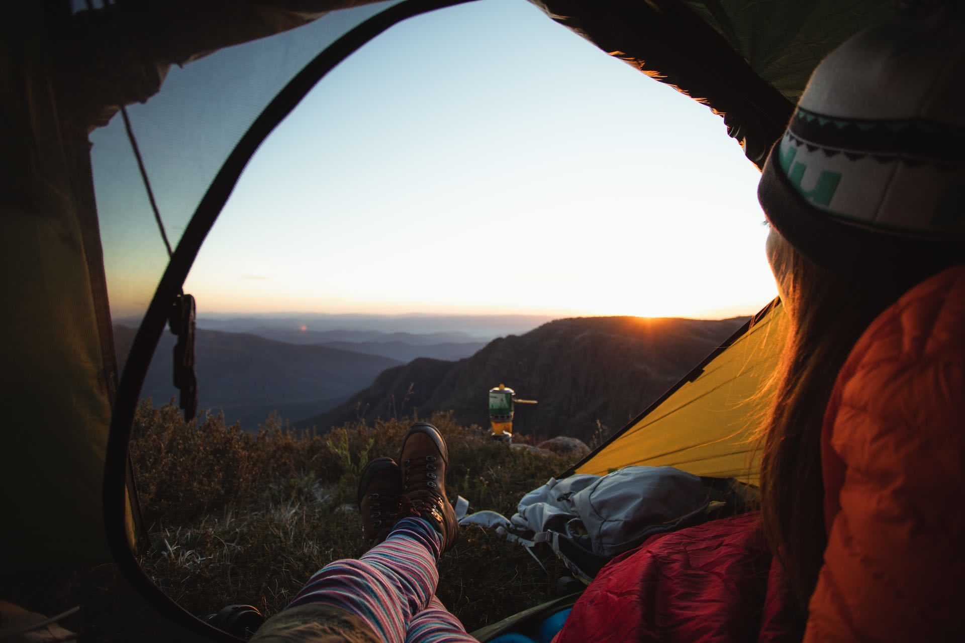 Conquer Mt Howitt And Tame The Crosscut Saw (VIC), Jamie Humby, sunrise, tent, mountain range, legs