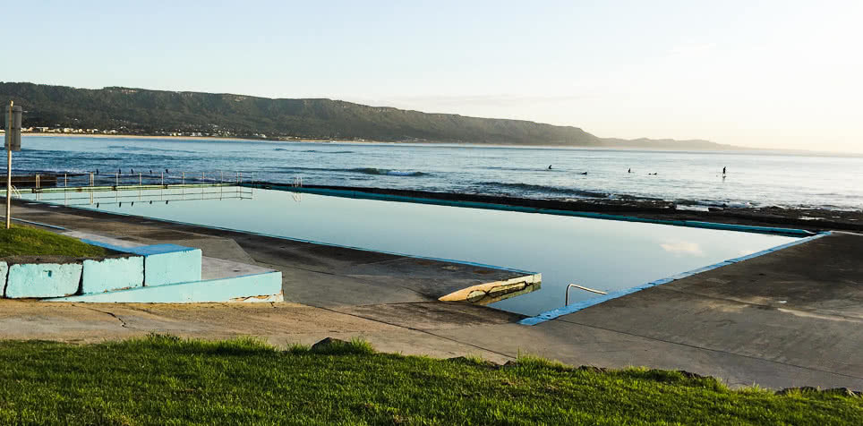 Swim In One Of These Illawarra Ocean Pools This Summer, Amy Fairall, photo courtesy of Wollongong City Council, Bellambi, pool, ocean, escarpment, beach
