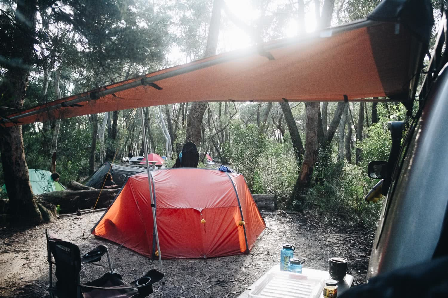 adventure is a privilege, photo by tim ashelford, perrys lookdown campground, blue mountains, nsw, tent, camping