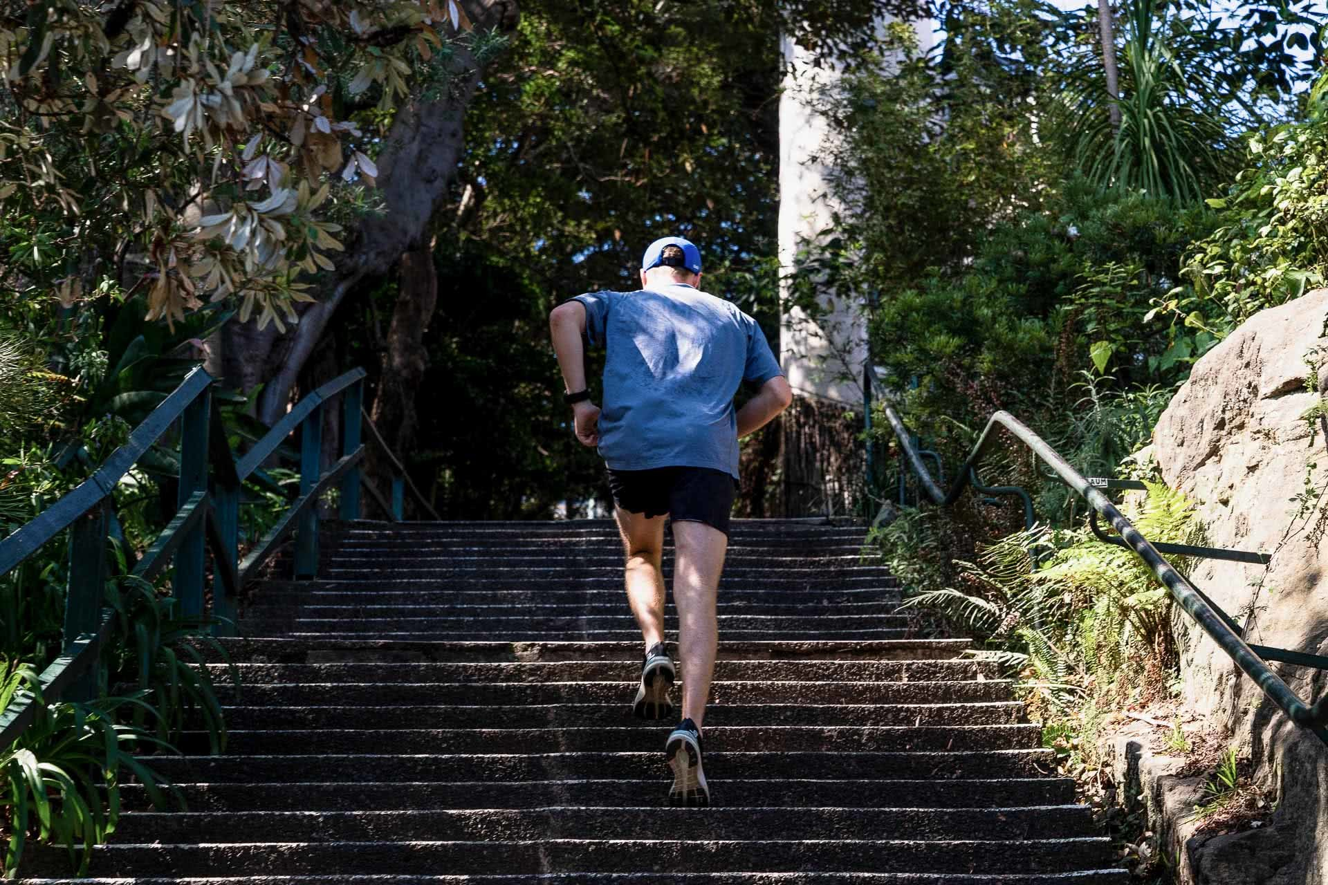 Salomon Sonic 3 Accelerate Gear Review, photo by Jono Tan @thetantrap, review by Tim Ashelford, lavender bay, sydney, nsw, running stairs