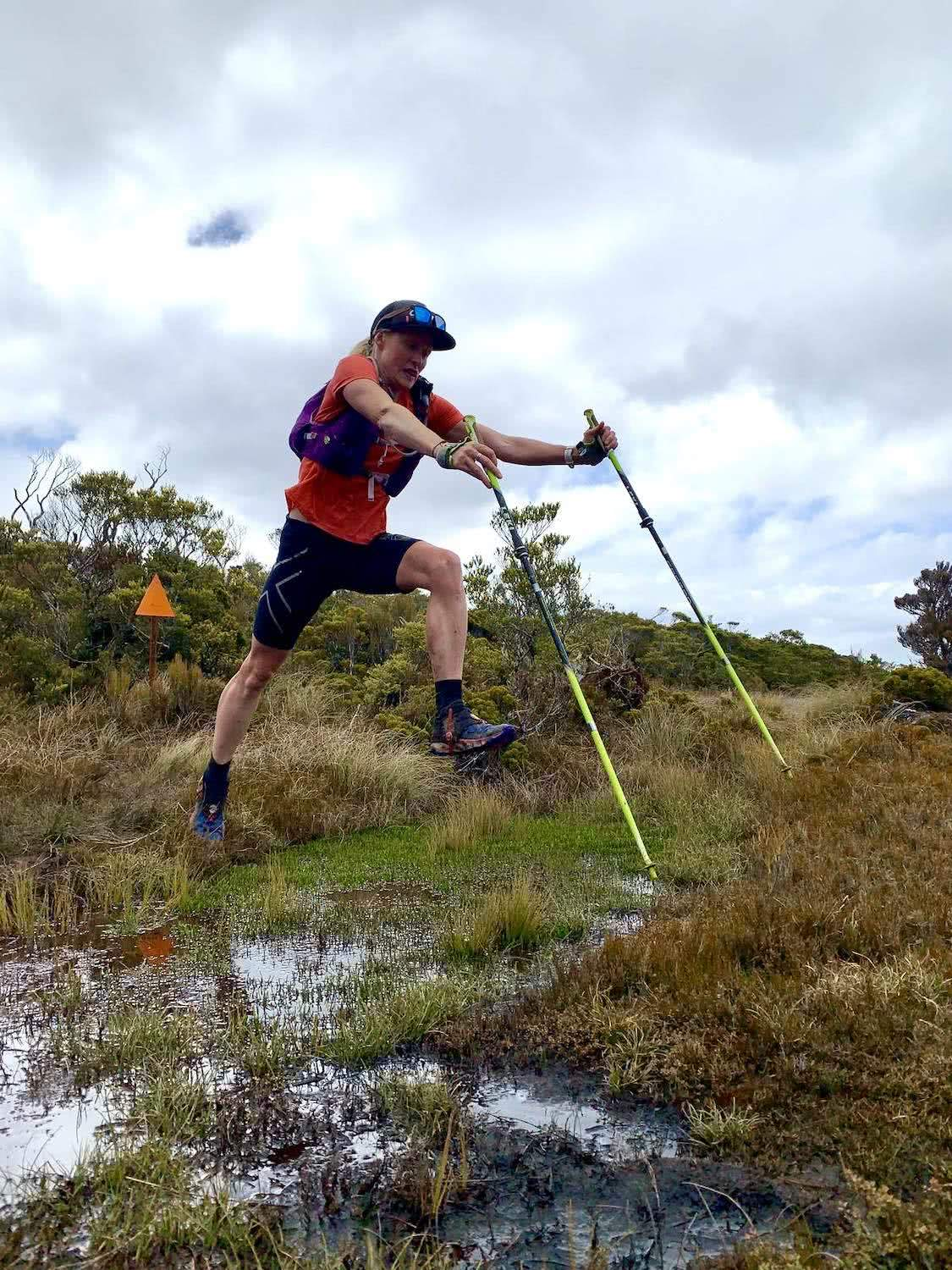 Lucy Clark Has Run New Zealand In 66 Days, lucy clark, te araroa, fastest known time, new zealand, puddle, poles