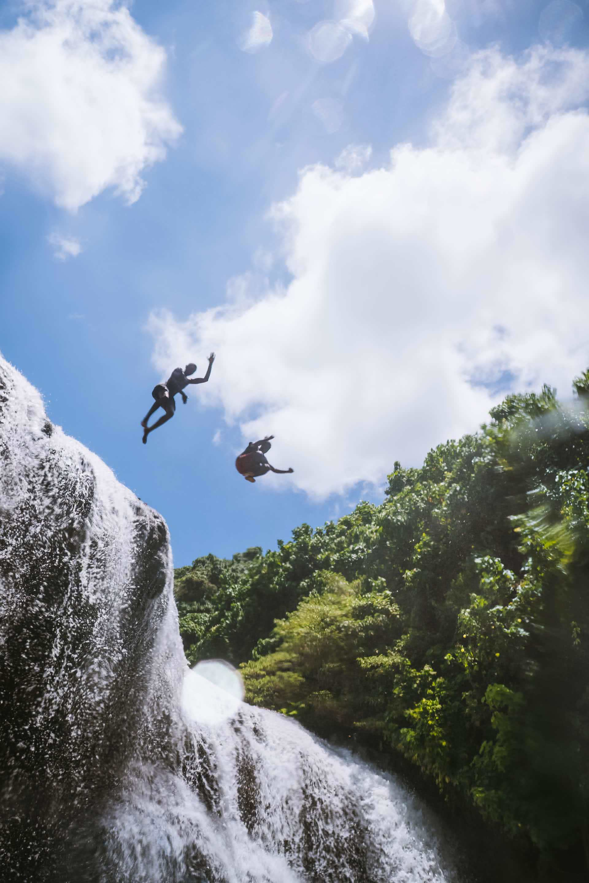 How a Visit to Vanuatu's Outer Islands Changed How I See the World, Ruby Claire, photos by Ben Savage and Ain Raadik, Maewo, Naone, Waterfall, jumping, river, boys, island
