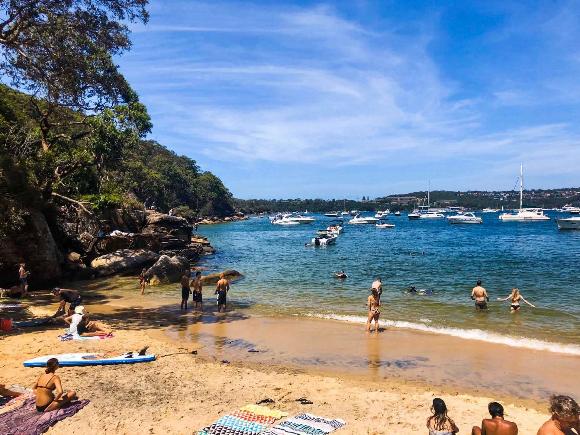Spend a Day on the Spit to Manly Walk, Jonathan Tan, beach, people, swimming, harbour, sydney