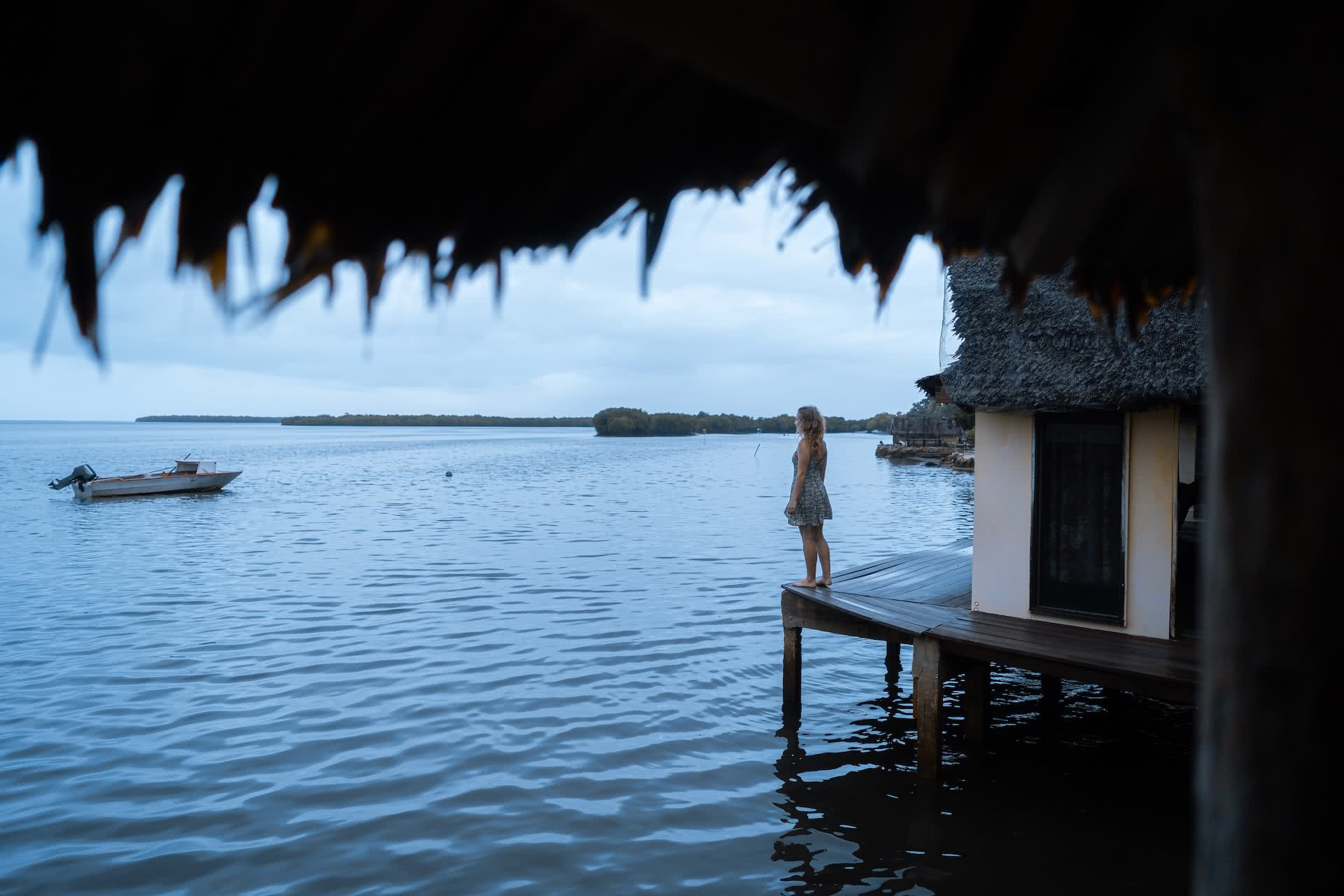 The Best Places to Stay in the Outer Islands of Vanuatu, photos by Ben Savage and Ain Raadik, Ruby Claire, Maskelyns islands Batis Seaside Bungalow, woman, ocean, accommodation, hut, water