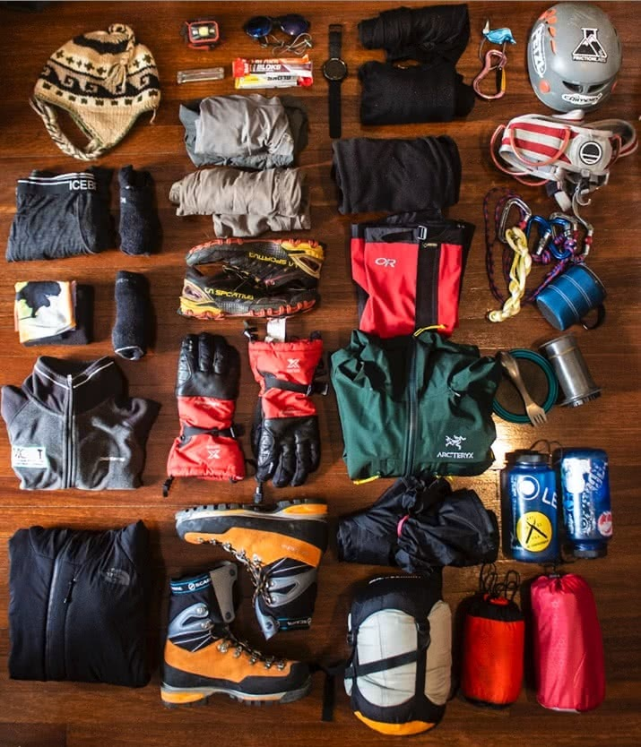 adventure training, gear, maintenance, flat lay, photo by tim ashelford
