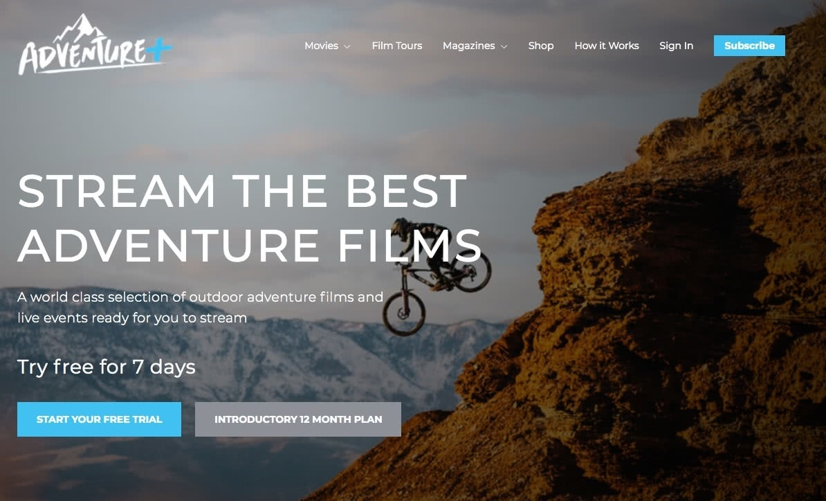 Adventure+, Adventure Entertainment, Streaming service, screenshot