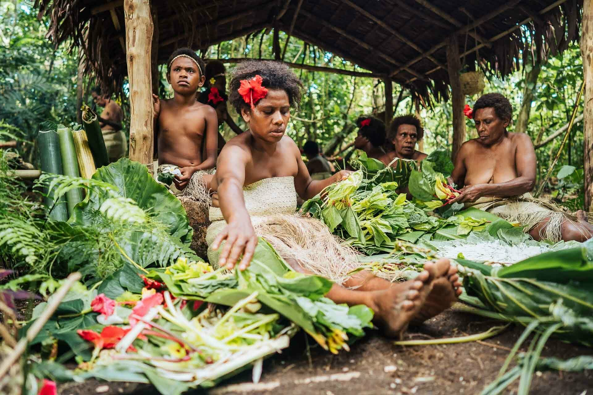 110 Maewo Hanare kastom village Food making,Have a Cultural Escape to Vanuatu's Outer Islands, ain raadik and ben savage, vanuatu