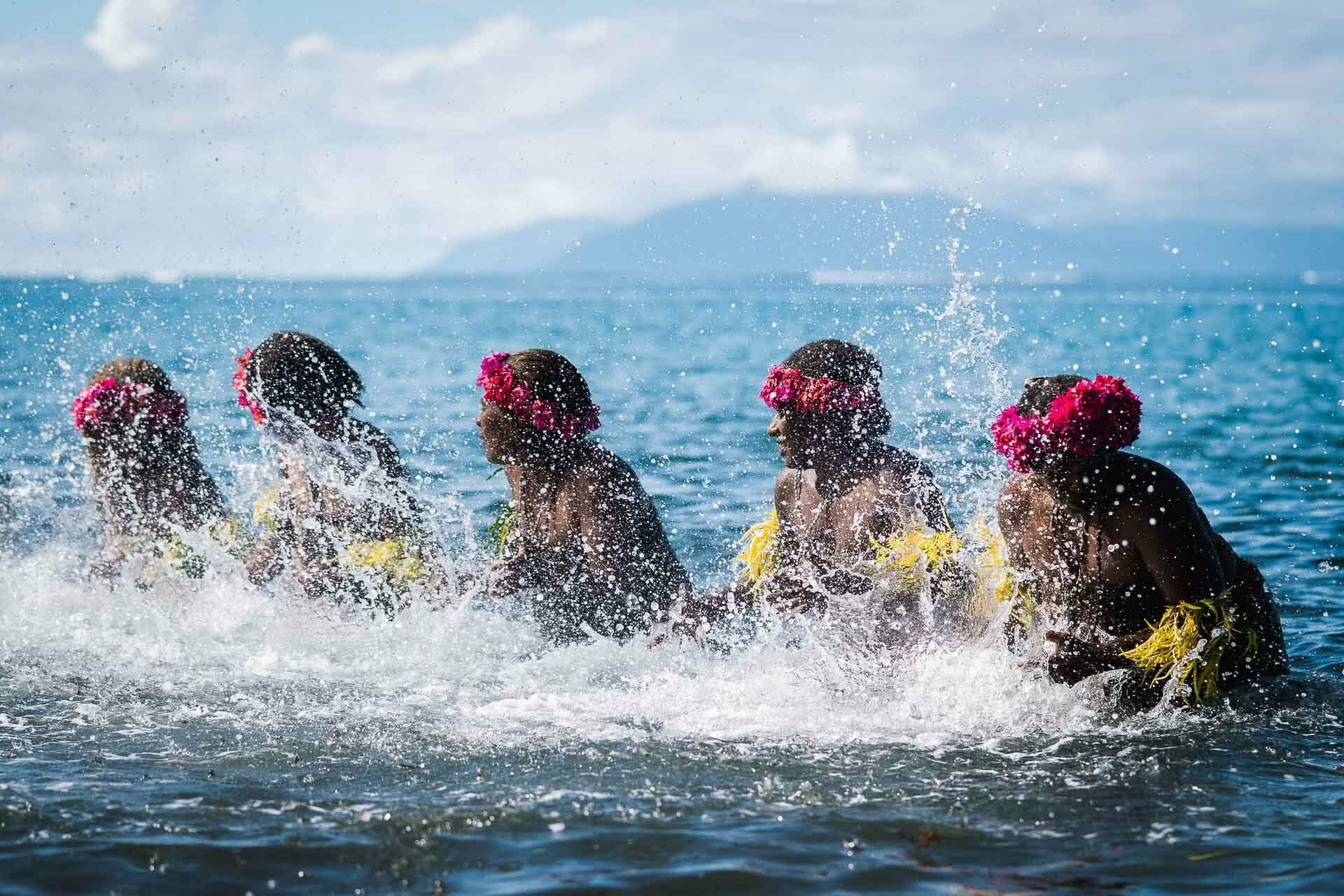 65 Gaua Ladies Water Dance, Have a Cultural Escape to Vanuatu's Outer Islands, ain raadik and ben savage, vanuatu