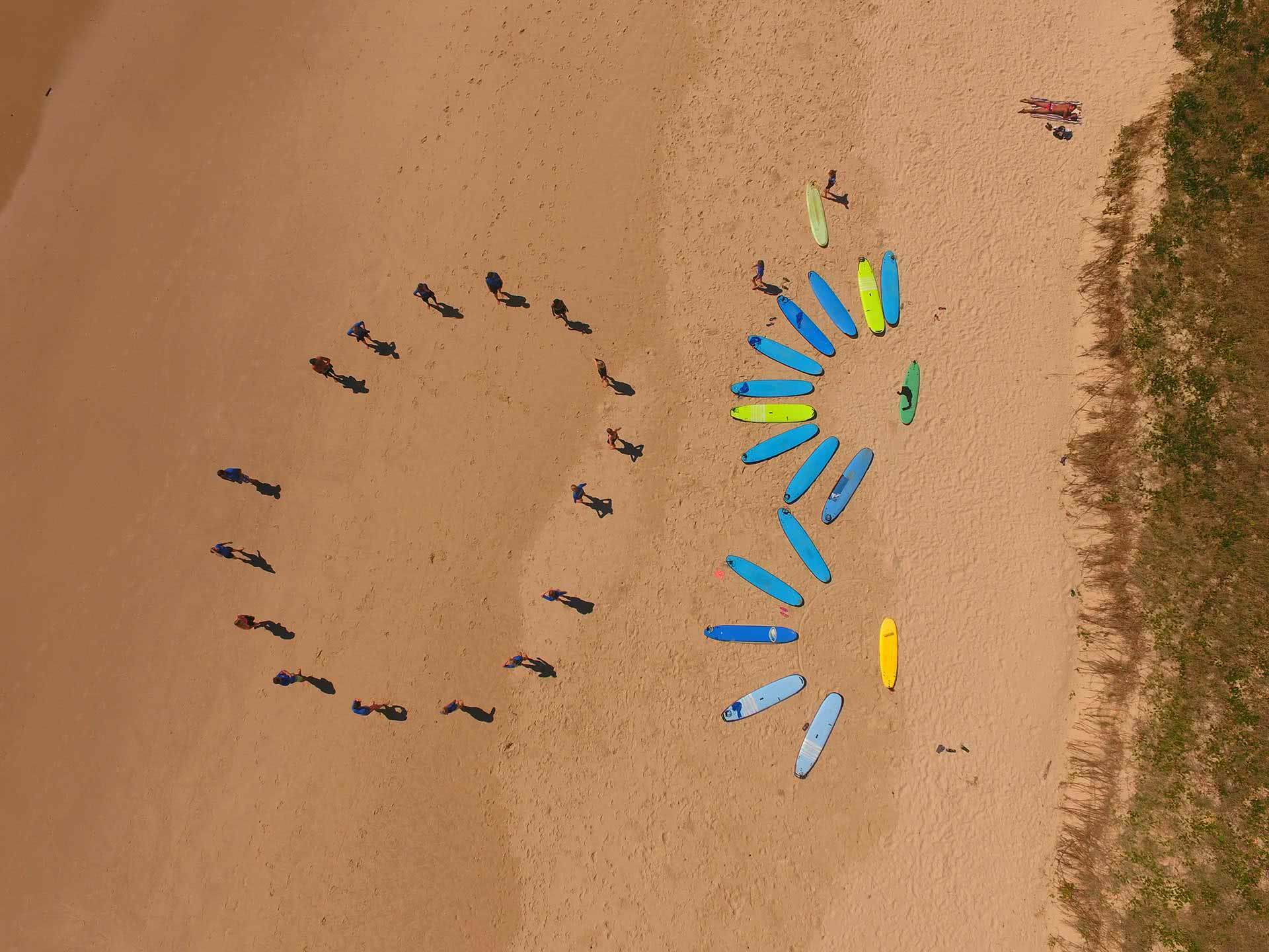Learn To Surf Byron Bay, Soul Surf, We Are Explorers, Aerial