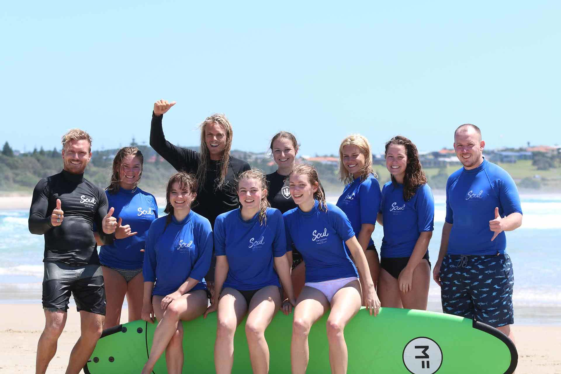 Learn To Surf Byron Bay, Soul Surf, We Are Explorers, Group