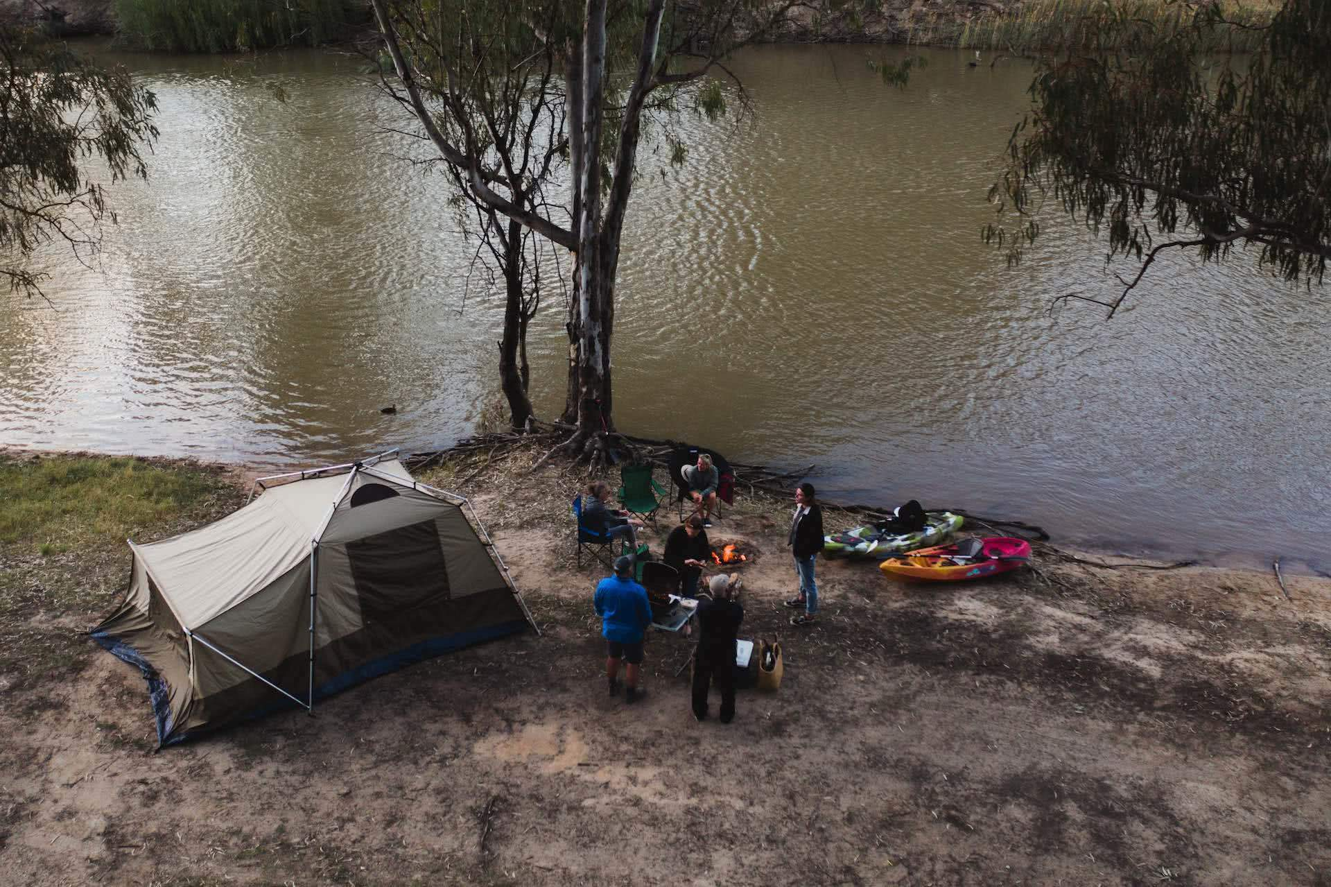 Deniliquin Should Be Your Next Weekend On The River, photo by Ben Savage, deniliquin, nsw, visit deni, drone, camping