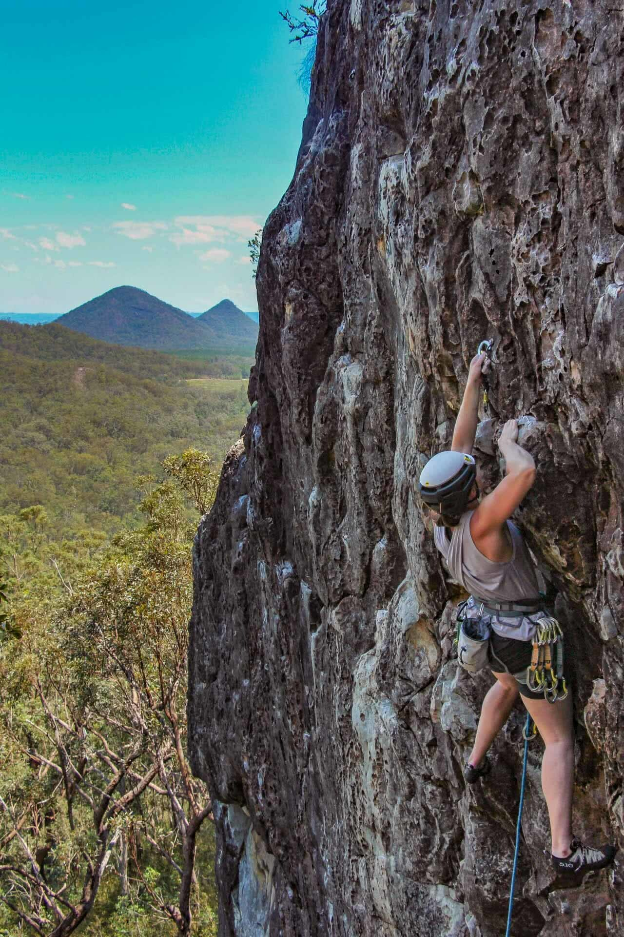 How to Spend a Weekend Rock Climbing in the Glasshouse Mountains, photo by Ayla Rowe, rock climbing, south east queensland
