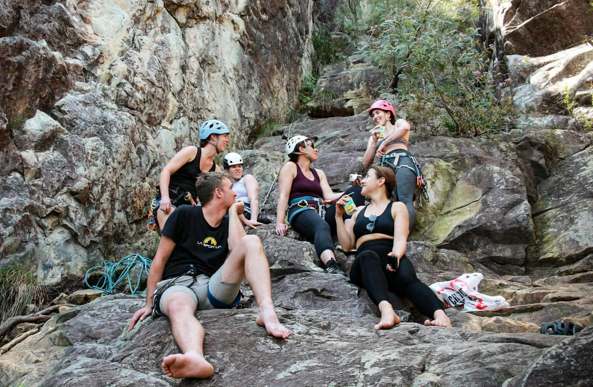 How to Spend a Weekend Rock Climbing in the Glasshouse Mountains, photo by Ayla Rowe, rock climbing, south east queensland, friends, mates, crag