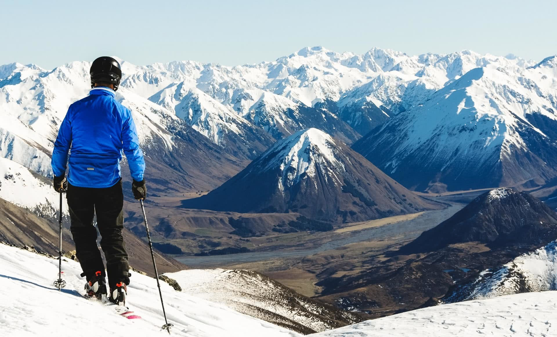 16 Just another Southern Alps view. Off the back at Porters, 21 Laurence climbing up the access walking track to Temple Basin ski area, 24 Incredible Ski Fields & Resorts in New Zealand, Huw Kingston, New Zealand