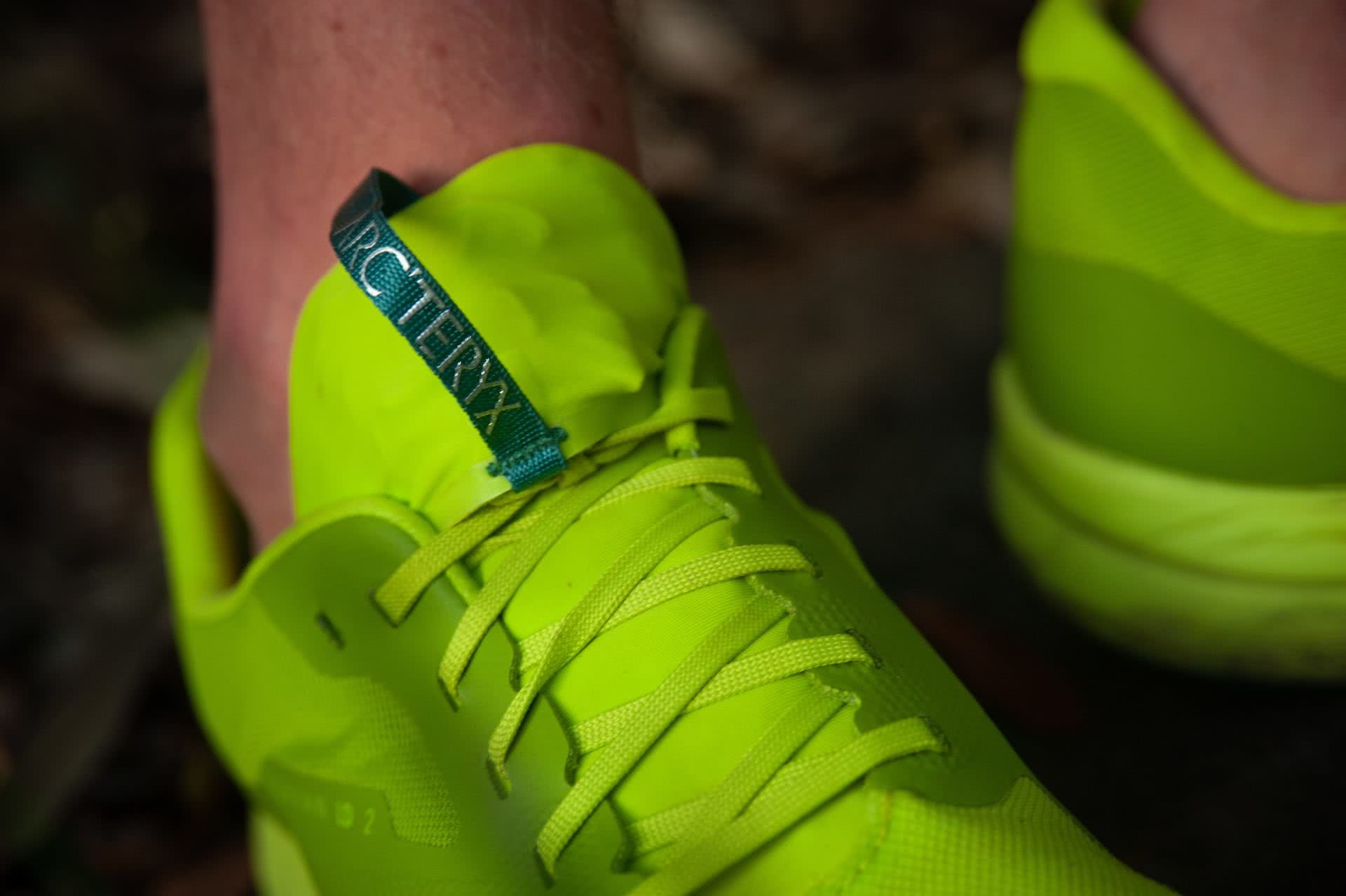 Arc'teryx Norvan LD 2 Trail Running Shoe // Gear Review, photo by Evan Andrews, trail runners, green, LIME GREEN,