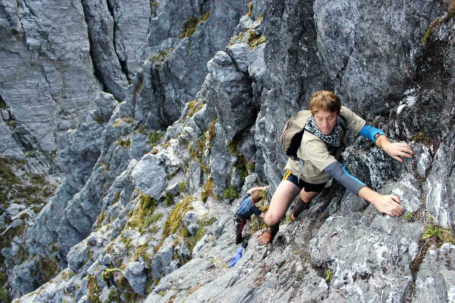 Eastern Arthurs, nick stacey, best multi day hikes in tasmania, rock scramble, toe shoes