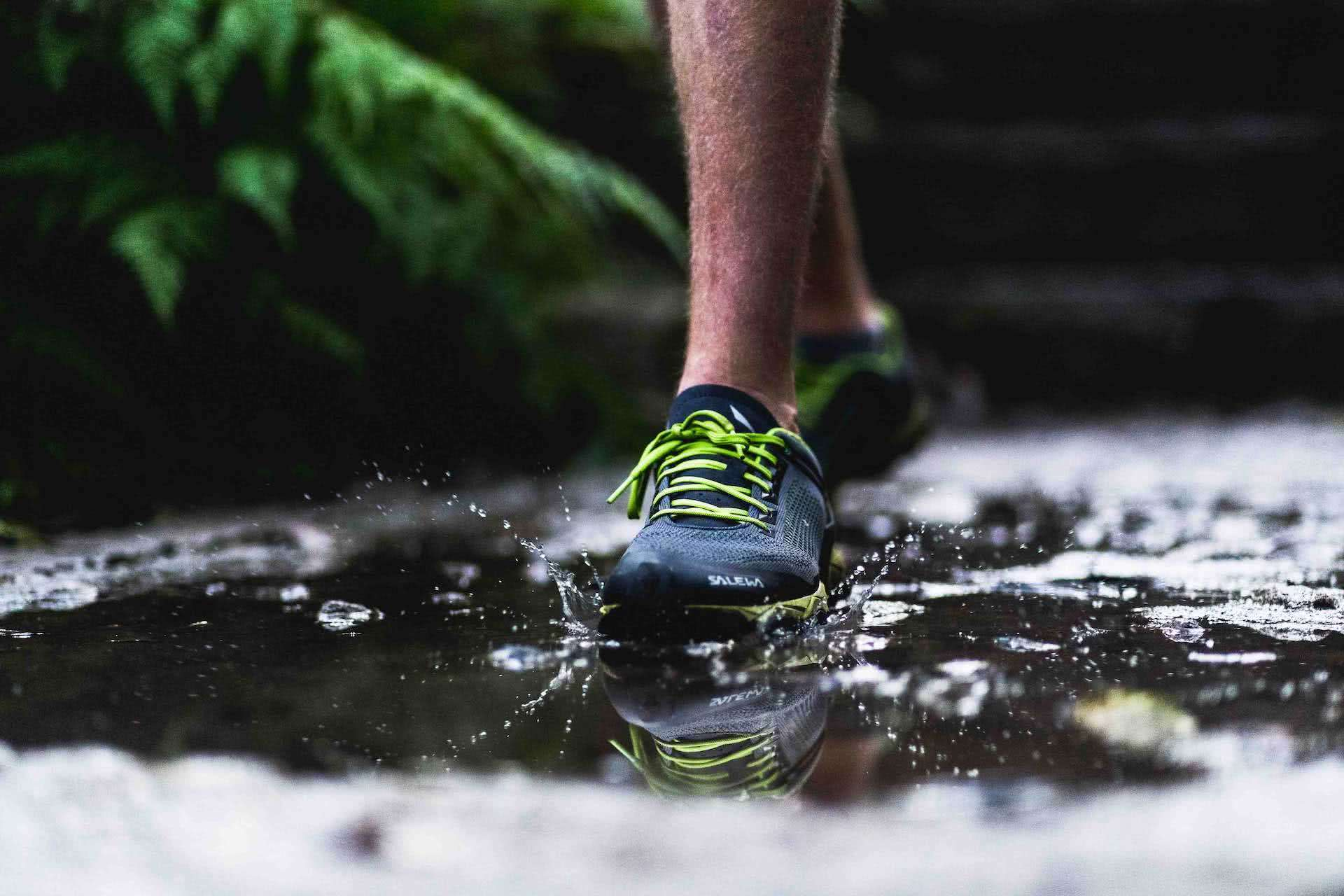 Is Speed Hiking Your New Niche Sport Obsession?, Jono Tan, Salewa, shoes, puddle, hiking, running