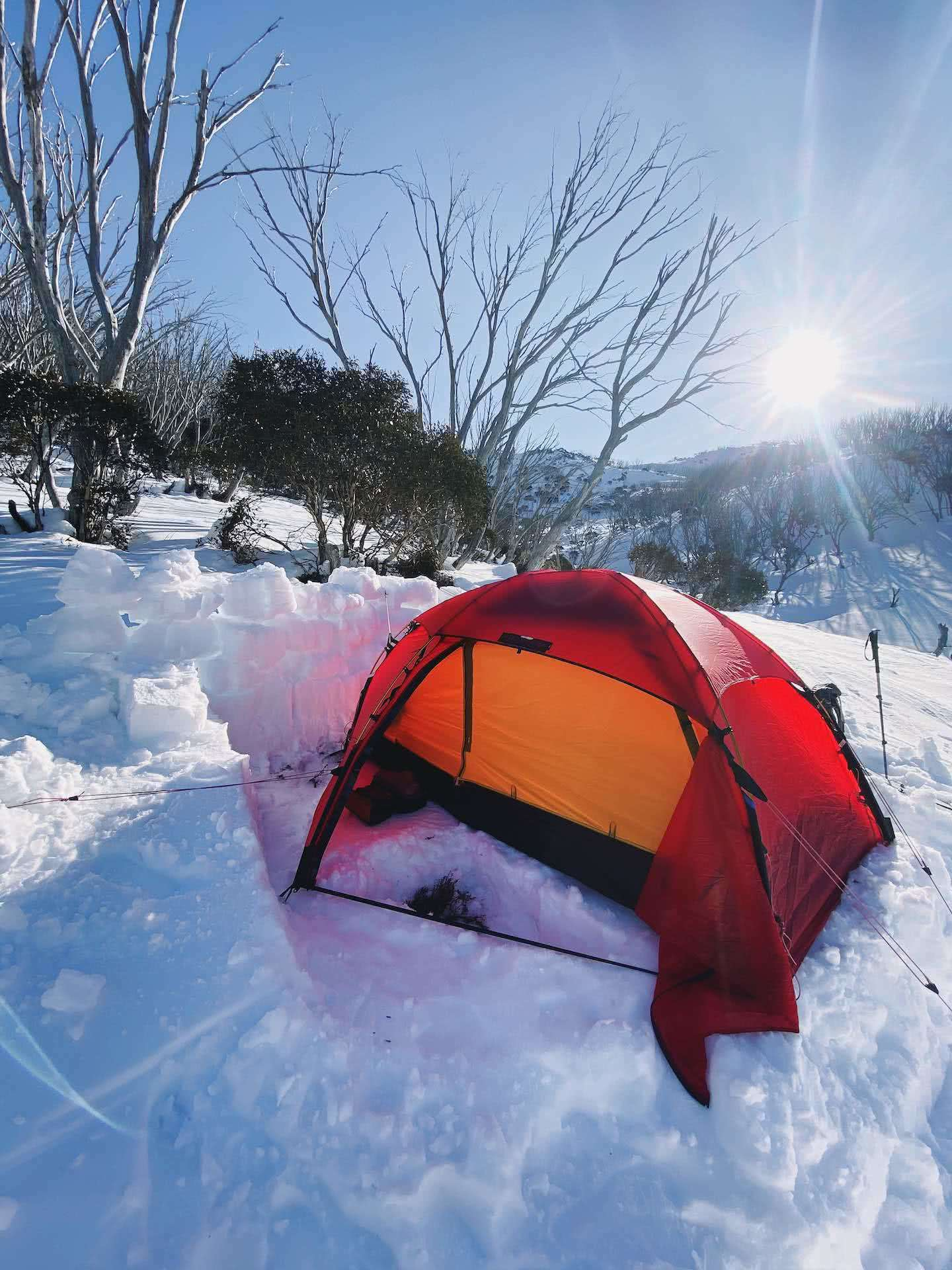 A Beginner's Guide to snow camping, Kate Donald, kosciuszko, jagungal, tent, snow, backcountry, nsw,