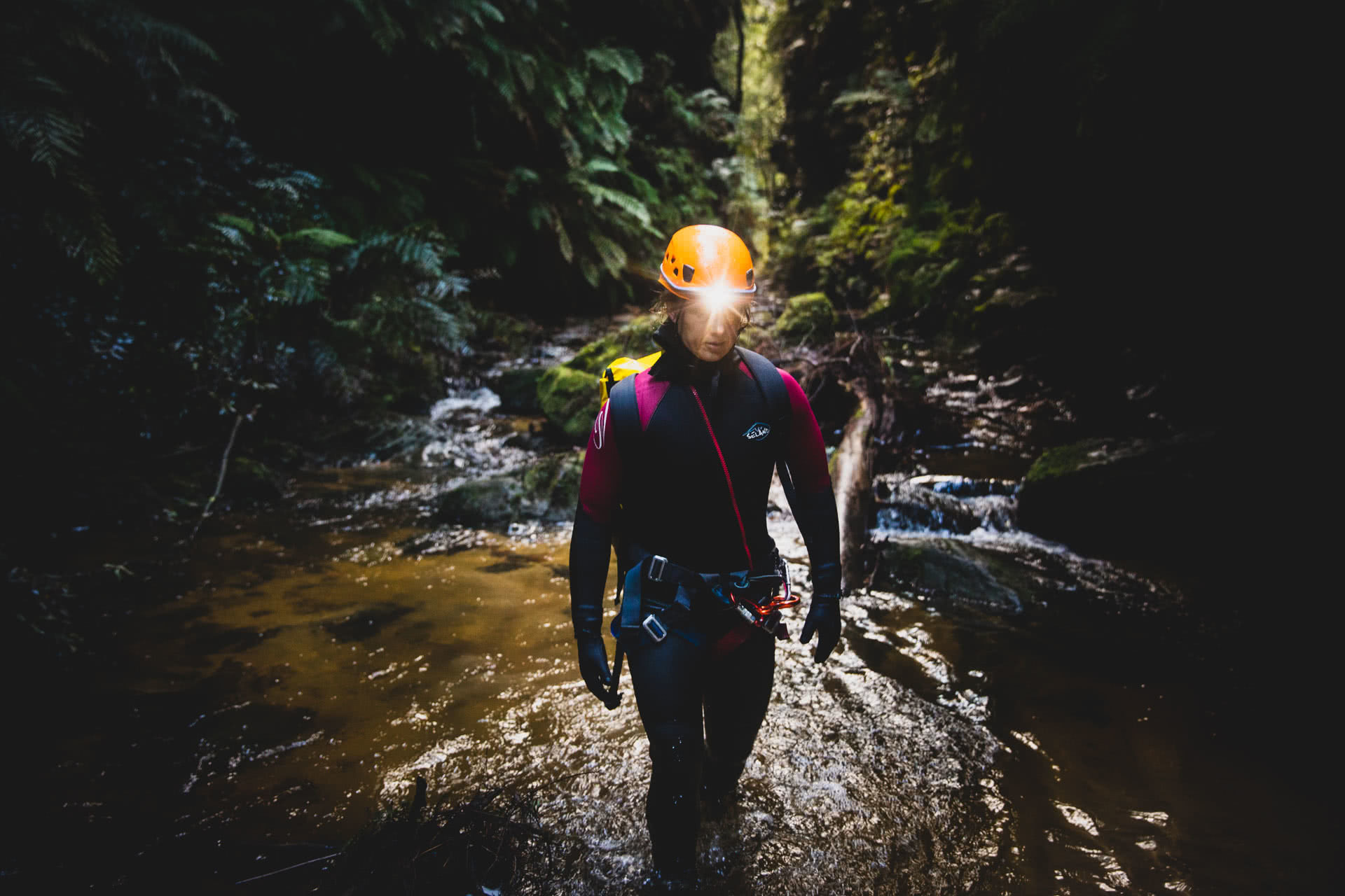 5 Adventures To Make Life Unboring, knog, photo by guy wilmot, empress canyon, blue mountains, nsw, bilby headlamp