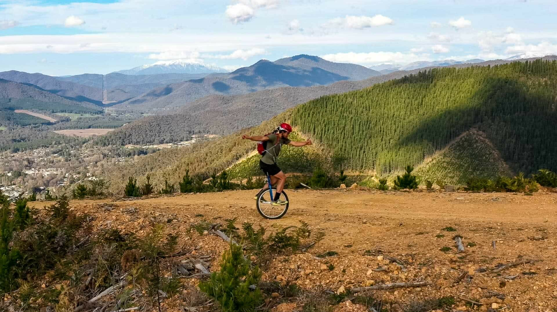 Stan Meissner - Lockdown Adventures - Day 26 Offroad Unicycling, Stan Meissner Has Done A Lockdown Adventure Every Day In Victoria,