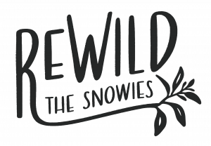 rewild the snowies, logo, png